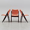 Three chairs, treman, 1950's/60's.