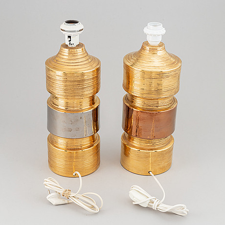 Two earthenware table lights bitossi, italy, 1960's-70's.
