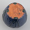 Hilma persson-hjelm, an art nouveau glazed ceramic vase, signed and dated 1915.