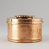 A 1920's/30's bronze tobacco box from nils johan.