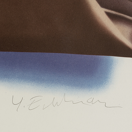 Yrjö edelmann, lithograph in colours, signed 63/290.