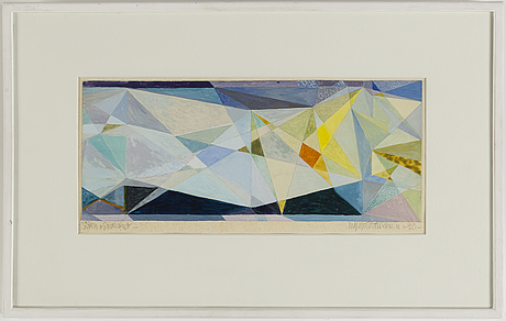 Ingegerd torhamn, gouache, signed and dated -30.