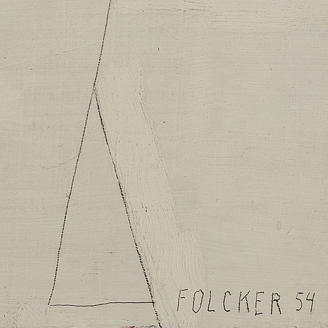 Göran folcker, oil on board, signed and dated -54.