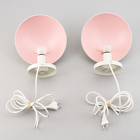 Poul henningsen, a pair of 'ph hat' wall lights for louis poulsen, denmark.