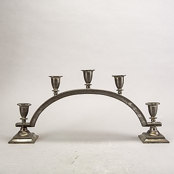 Just Andersen, a pewter candelabra first half of the 20th century.
