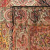 A shawl with paisley patterns, wool, ca 296 x 140,5 cm, 19th century.