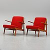 A pair of easy chairs, denmark, 1950's.