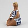 Lisa larson, 'amalia' stoneware figurine, gustavsberg, sweden.
