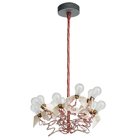 "Ingo maurer, a ""birdie"" ceiling lamp, studio ingo maurer 21st century."