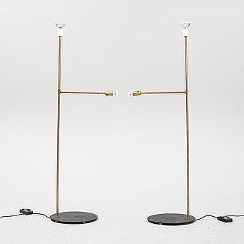 Jonas Bohlin, a pair of 'Galaxy' brass floor lights, Örsjö Belysning.