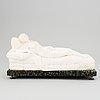 Tizian, after. sculpture. unsigned. alabaster. length 36.5 cm. height 19 cm.