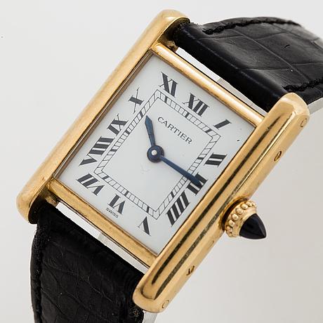 Cartier, tank, wristwatch, 20,5, x 20 (28) mm.