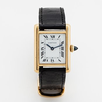 Cartier, Tank, wristwatch, 20,5, x 20 (28) mm.
