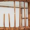 A rattan table, possibly viggo boesen.