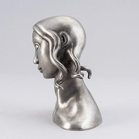 Carl milles, after. sculpture, pewter. marked millesgården collection. height 16 cm.