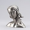 Carl milles, after. sculpture, pewter. marked millesgården collection. height 16 cm.