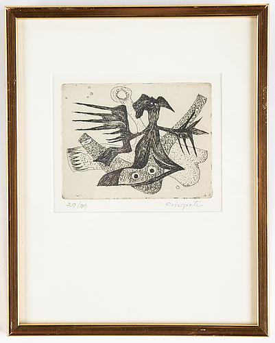 Eric grate, etching, signed 29/99.