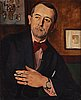 """Tage hansson, """"portrait of the artist gan gösta adrian-nilsson""""."""