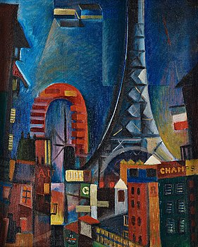 "473. Gösta Adrian-Nilsson, ""Eiffeltornet (The Eiffel Tower)""."