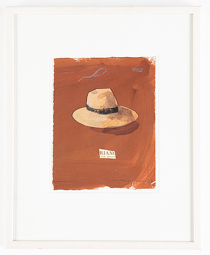 Lennart aschenbrenner, gouache and collage, signed and dated -07.