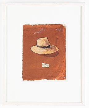 Lennart Aschenbrenner, gouache och collage, signerad och daterad -07.