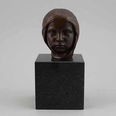 Johannes collin, sculpture, bronze, signed and dated 1910.