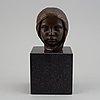 Johannes collin, skulptur, brons, signerad och daterad 1910.