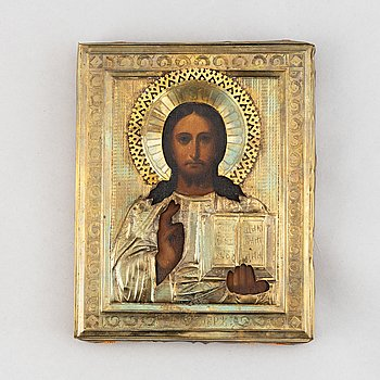 An icon Russia, 19th Century with ochlad.