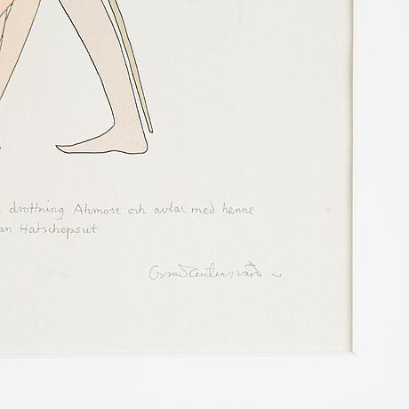 Oscar reutersvärd, watercolours, 2, signed.