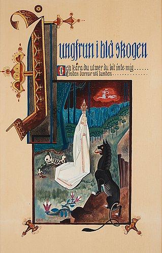 "Gösta adrian-nilsson, folk song - ""the vrigin in the blue woods""."