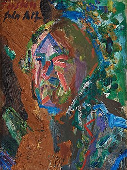 470. Alf Lindberg, Self portrait.