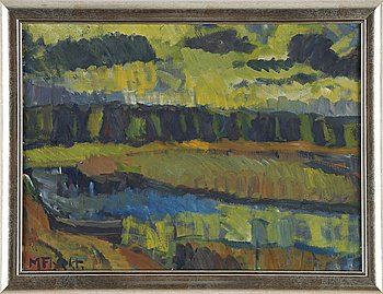 Manfred Flyckt, oil on canvas, signed. executed around 1940.