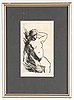 Evert lundquist, drypoint etching, signed.