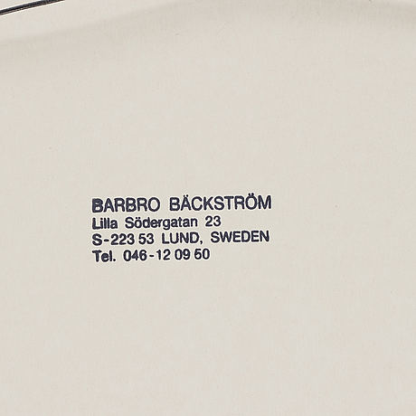 Barbro bäckström, lithograph, signed and dated -78.