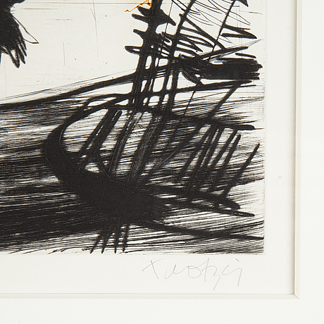 Ulf trotzig, drypoint etching, 1981, signed 10/70.