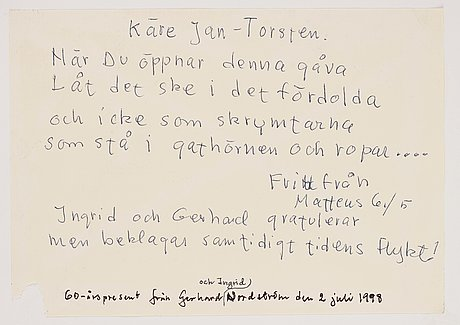 """Gerhard nordström, """"en utflykt i det gröna""""."""