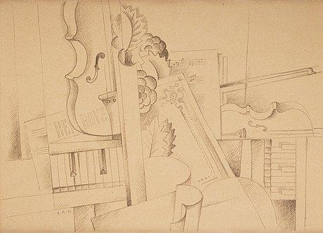 """Gösta adrian-nilsson, """"musikstilleben - hommage á beethoven""""."""