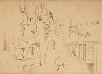 """454. Gösta Adrian-Nilsson, """"Musikstilleben - Hommage á Beethoven""""."""