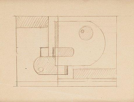 "Gösta adrian-nilsson, ""låsta plan"" (geometric composition)."