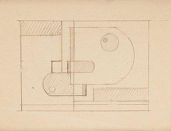 "461. Gösta Adrian-Nilsson, ""Låsta plan"" (geometric composition)."