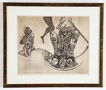 Endre Nemes, etching, 1946, signed 1/50.