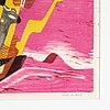 Nils wedel, wood cut in colours, 1940 signed.