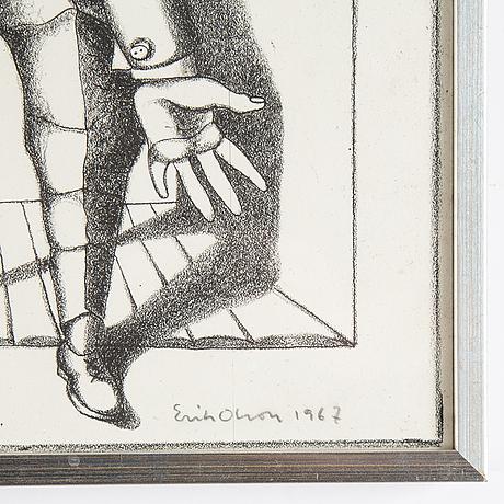 Erik olson, lithograph, 1967, signed 94/100.