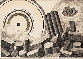 "439. Otto G Carlsund, ""Apocaplyptic landscape""."