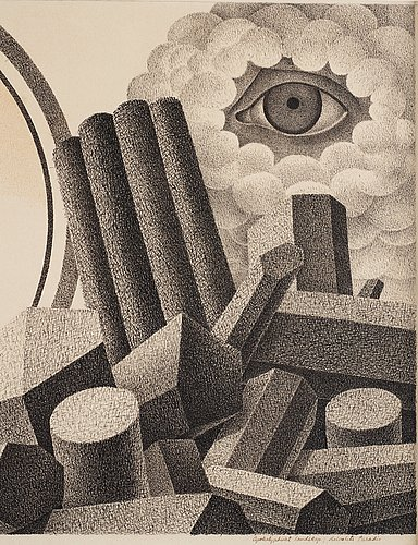 "Otto g carlsund, ""apocaplyptic landscape""."