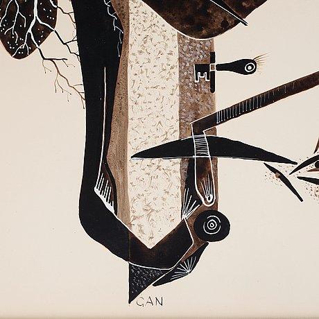 Gösta adrian-nilsson, composition with eyes.