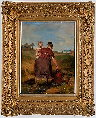 Unknown artist, 19th century, oil on panel.