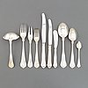 A part silver cutlery service, 'sachsisk', cohr, denmark. swedish import mark. (59 pieces).