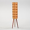 Hans-agne jakobsson, a pine and teak floor light from ellysett.