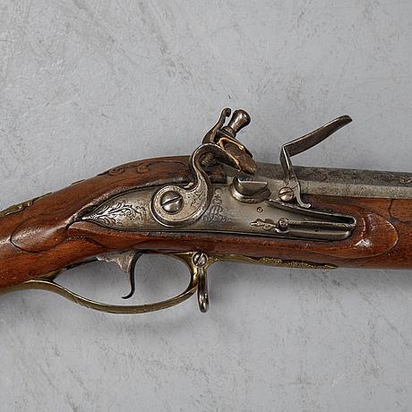 A german re-converted flintlock gun, first half of the 18th century.